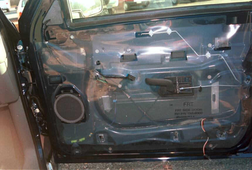 Chevy Silverado front door (Crutchfield Research Photo)