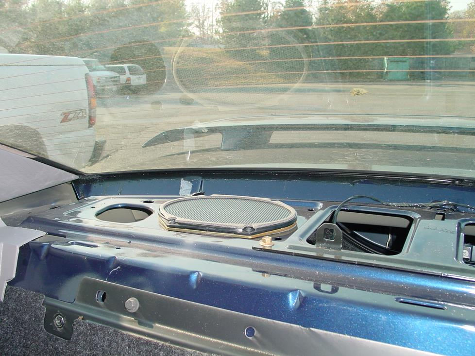 Ford Mustang coupe rear deck speakers