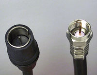 75-ohm coaxial connector