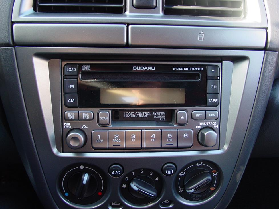 Factory radio in the Subaru WRX