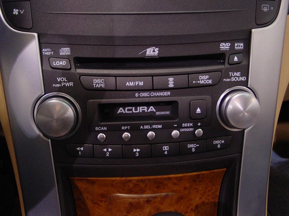 Acura TL Car Audio Profile - Acura tl 2004 dashboard