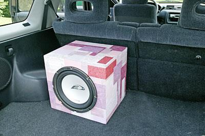 Decoupage subwoofer box