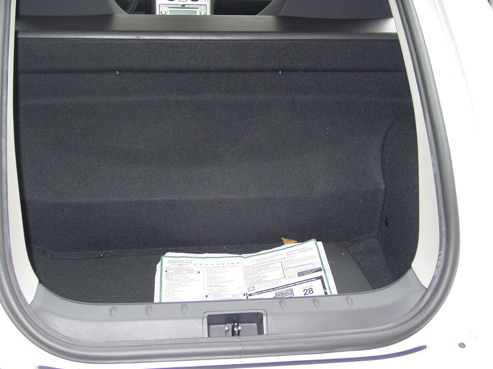 Chrysler Crossfire trunk