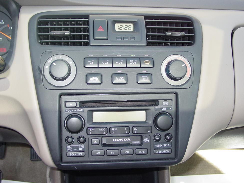 1998 2002 honda accord sedan car audio profile honda accord radio