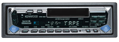 Kenwood's KRC-335 combines a sleek, modern style with the latest in cassette playback technology.