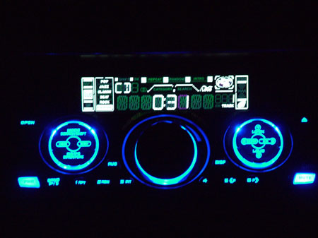 Dual 7700 CD Player at Night