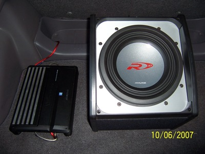 Close up of Subwoofer