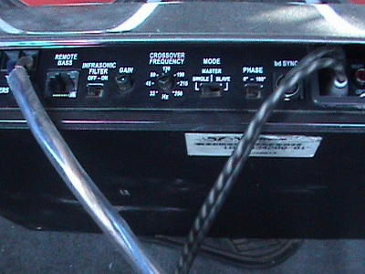 settings for the amp