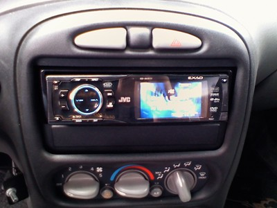 This is my head unit I put in. I wanted someting that looked nice and played DVD's and was compatible with my 80GB iPod while still being affordable. This did the trick. It looks good and sounds great!