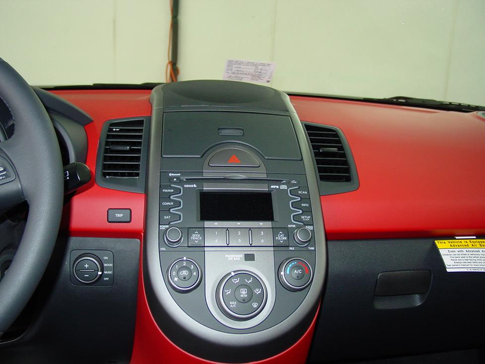the kia soul's factory radio (crutchfield research photo)