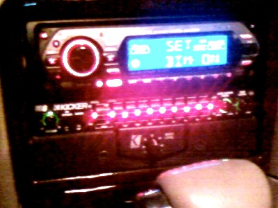 My dash w/ custom bracket (made myself).