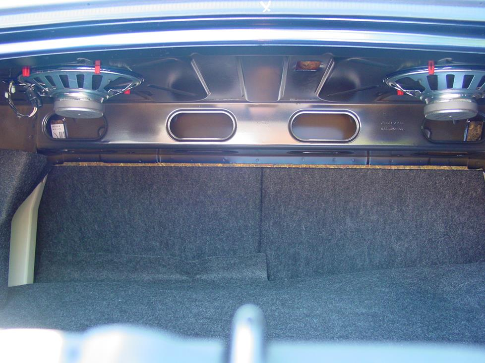 Ford Mustang rear speakers