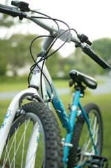 Bike in focus