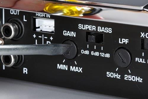 Gain setting on an amplifier
