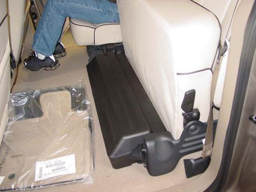 ford f150 factory subwoofer under rear seat