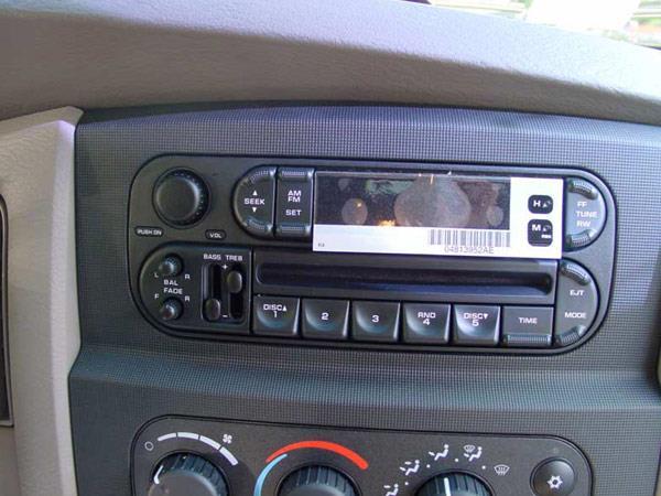 Dodge ram regular cab car audio profile