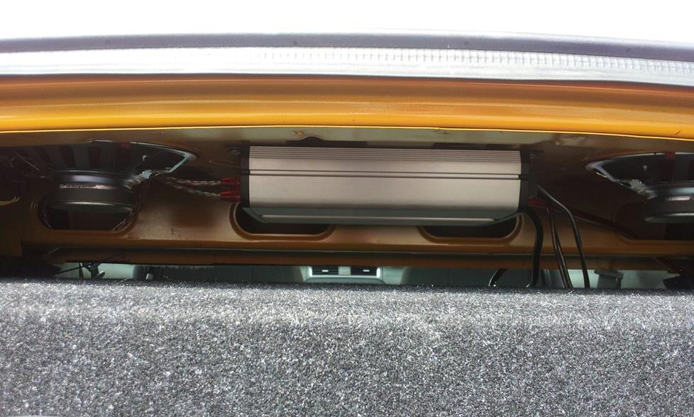 james g's 2012 ford mustang - jl audio jx1000/1 amplifier