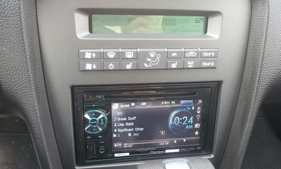 James g's 2012 ford mustang - pioneer AVH-P2400BT DVD Receiver  and Metra Ford Mustang Factory Integration Adapter