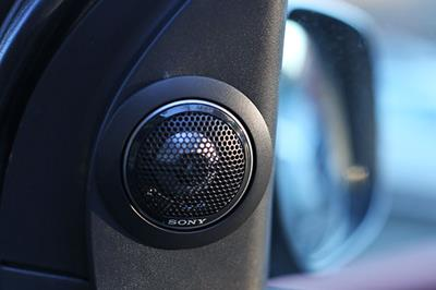Custom-installed Sony tweeter