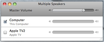 apple airplay  itunes screenshot speaker control