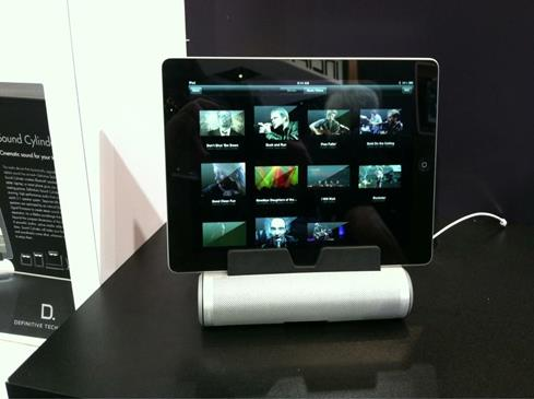 Definitive Tech soundbar tablet Crutchfield CES 2013 iPad