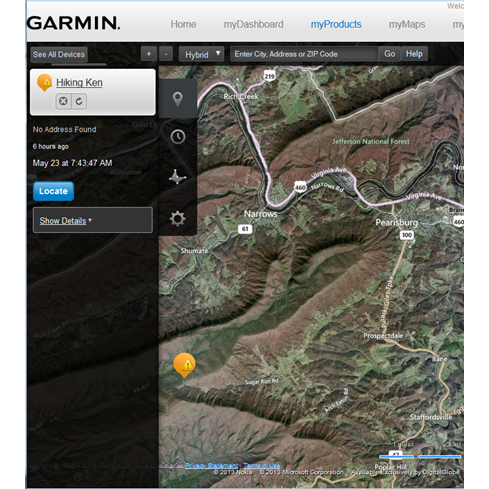 Ken Appalachian Trail Garmin GTU 10