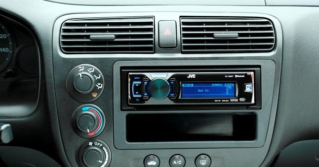 aftermarket radio in a honda civic