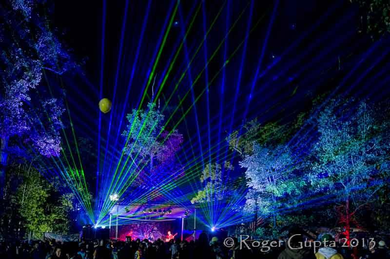 Light show at the Triangle Stage