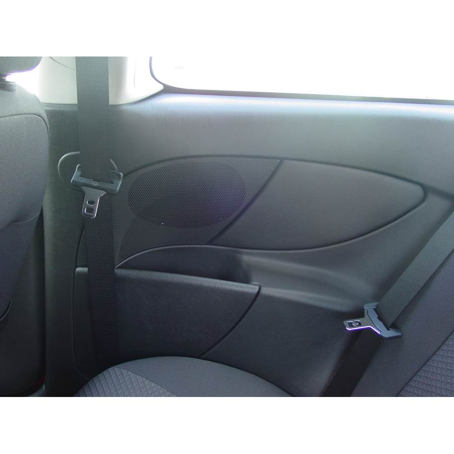 2006 Ford Focus ZX3 Rear side panel speaker location