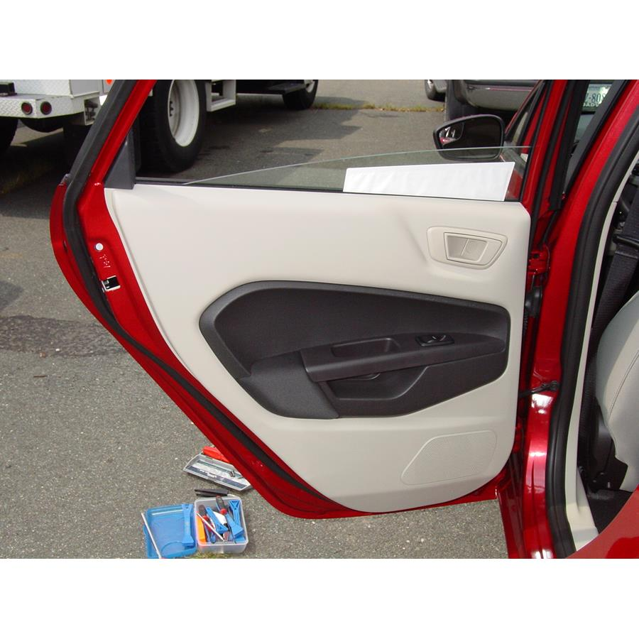 2012 Ford Fiesta Rear door speaker location