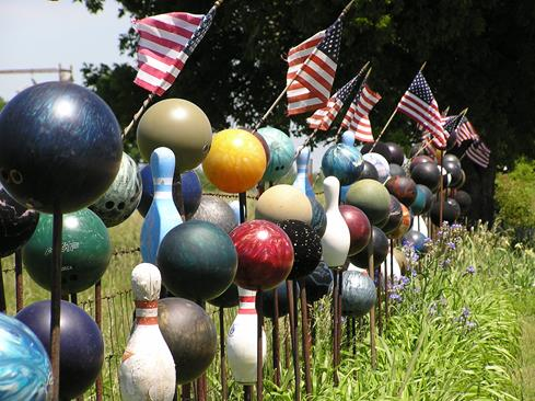 Bowling ball fence