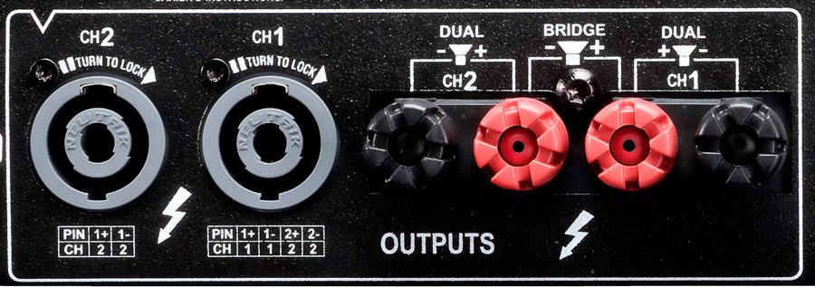 Crown XLS amplifier outputs