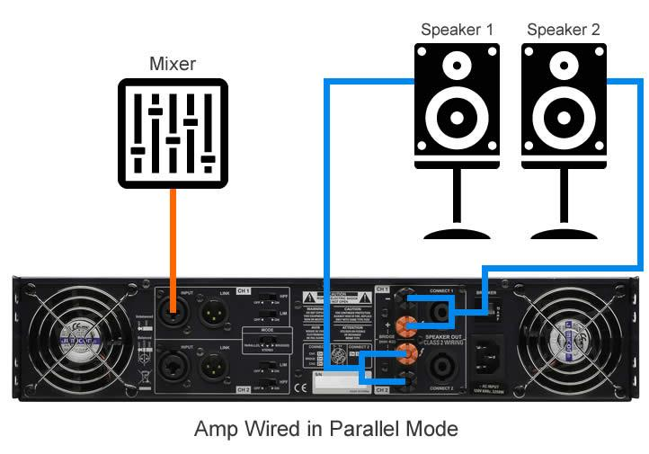 Amp wired in parallel mode