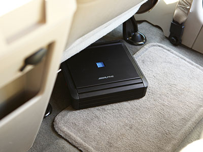 Amp under the car seat