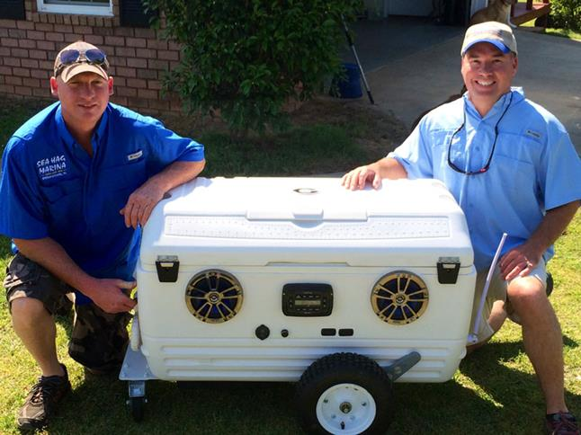 Marty and Steve with cooler