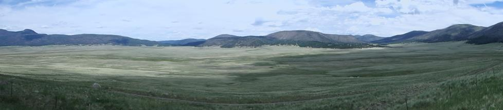 Panoramic photograph of Valles Caldera in New Mexico