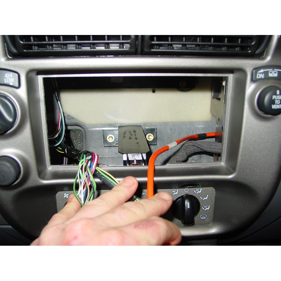 2004 Ford Explorer Sport Trac Factory radio removed