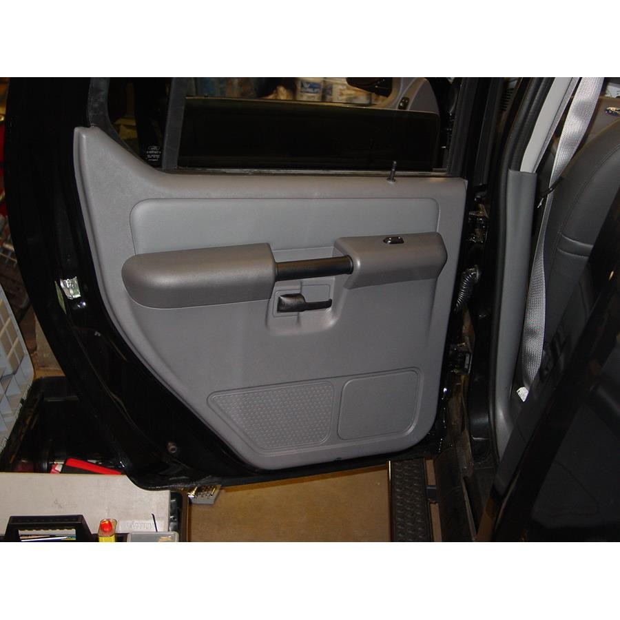 2004 Ford Explorer Sport Trac Rear door speaker location