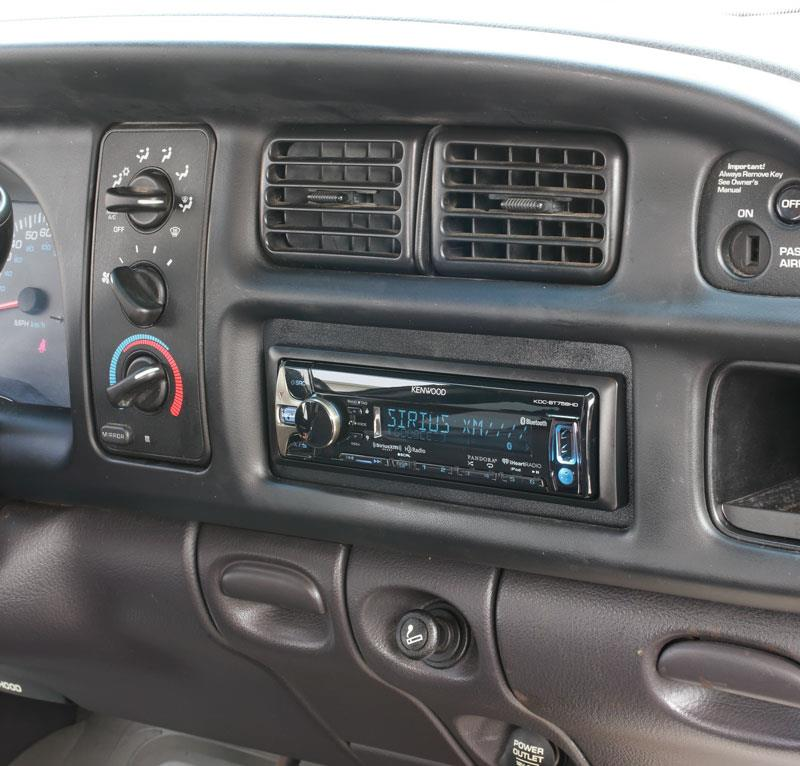 Kenwood KDC-BT758HD receiver installed in 2001 Ram
