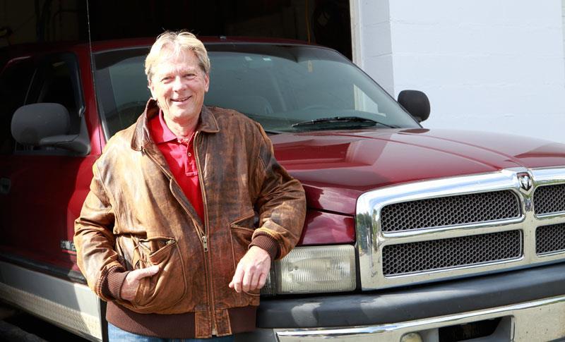 Gary Crump with his 2001 Dodge Ram