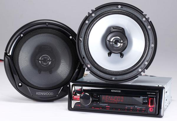 Kenwood KFC-1665S speakers and KDC-X599 CD receiver
