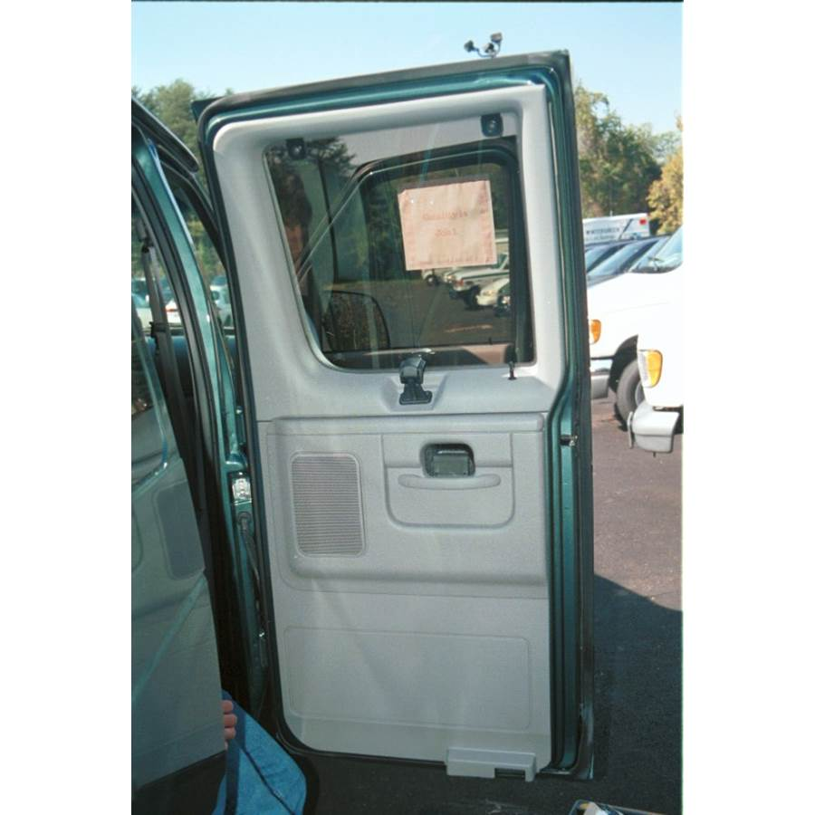 1997 Ford Club Wagon Rear door speaker location