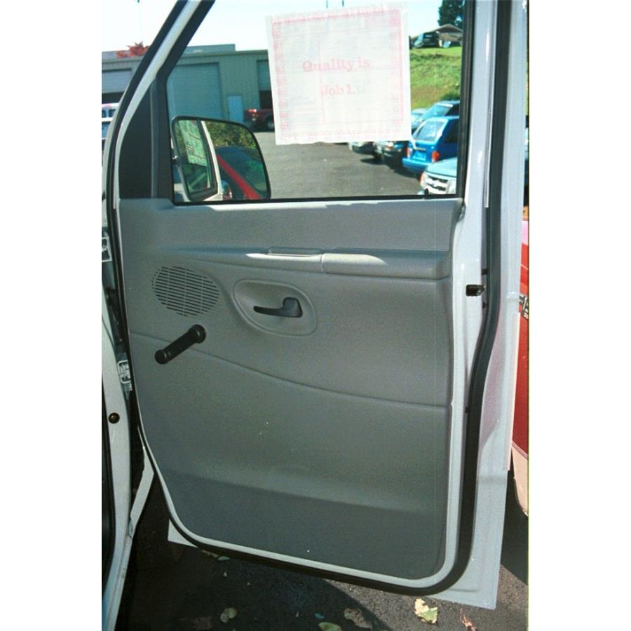 1998 Ford Club Wagon Front door speaker location