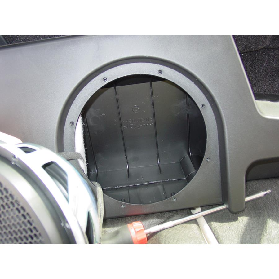 2016 Ford F-450 Factory subwoofer removed