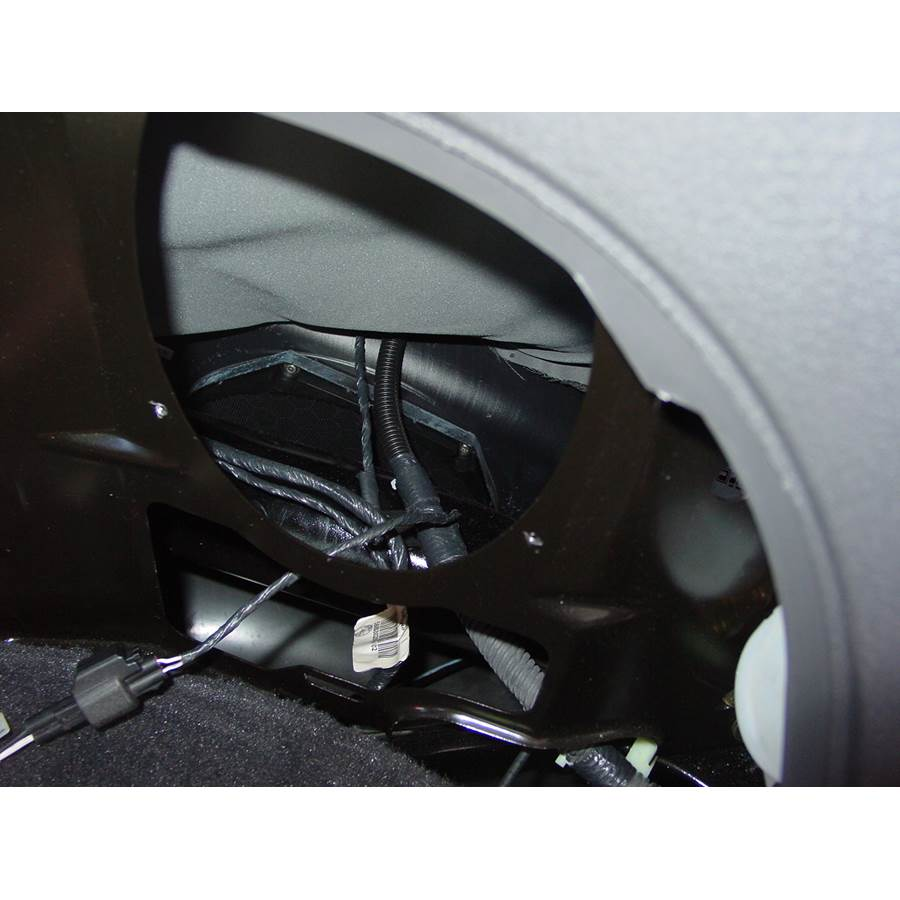 2003 Ford Thunderbird Factory subwoofer location