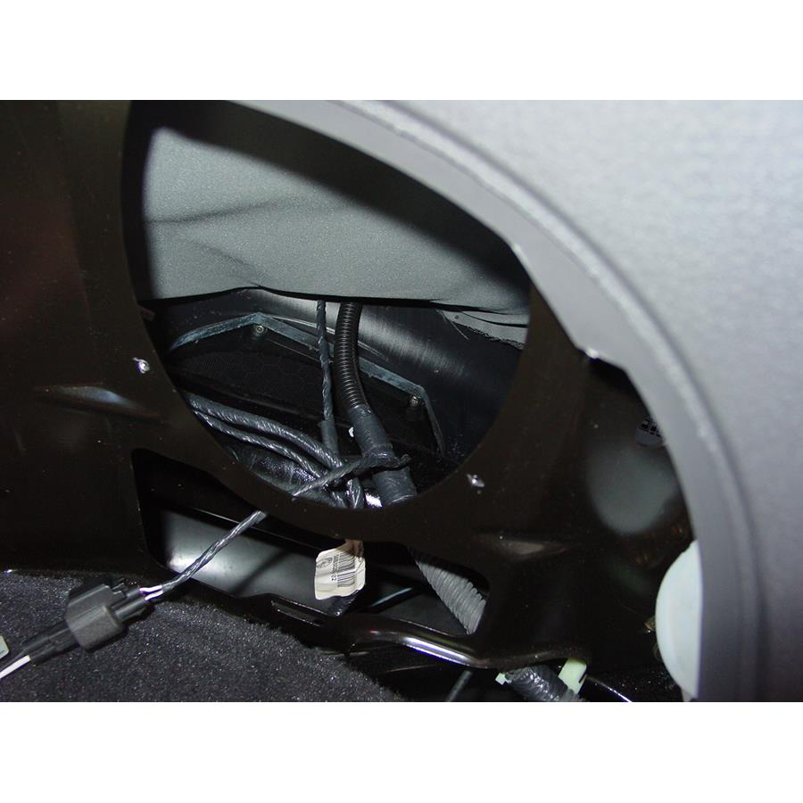 2005 Ford Thunderbird Factory subwoofer location