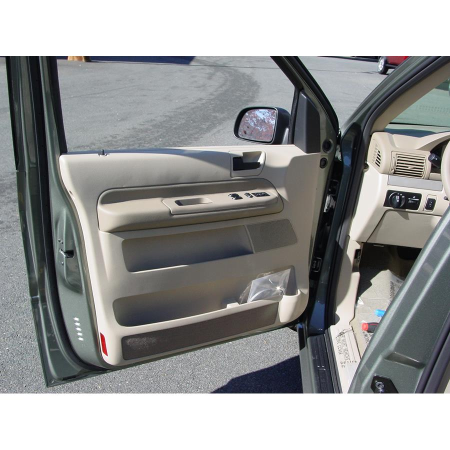 2007 Ford Freestar Front door speaker location
