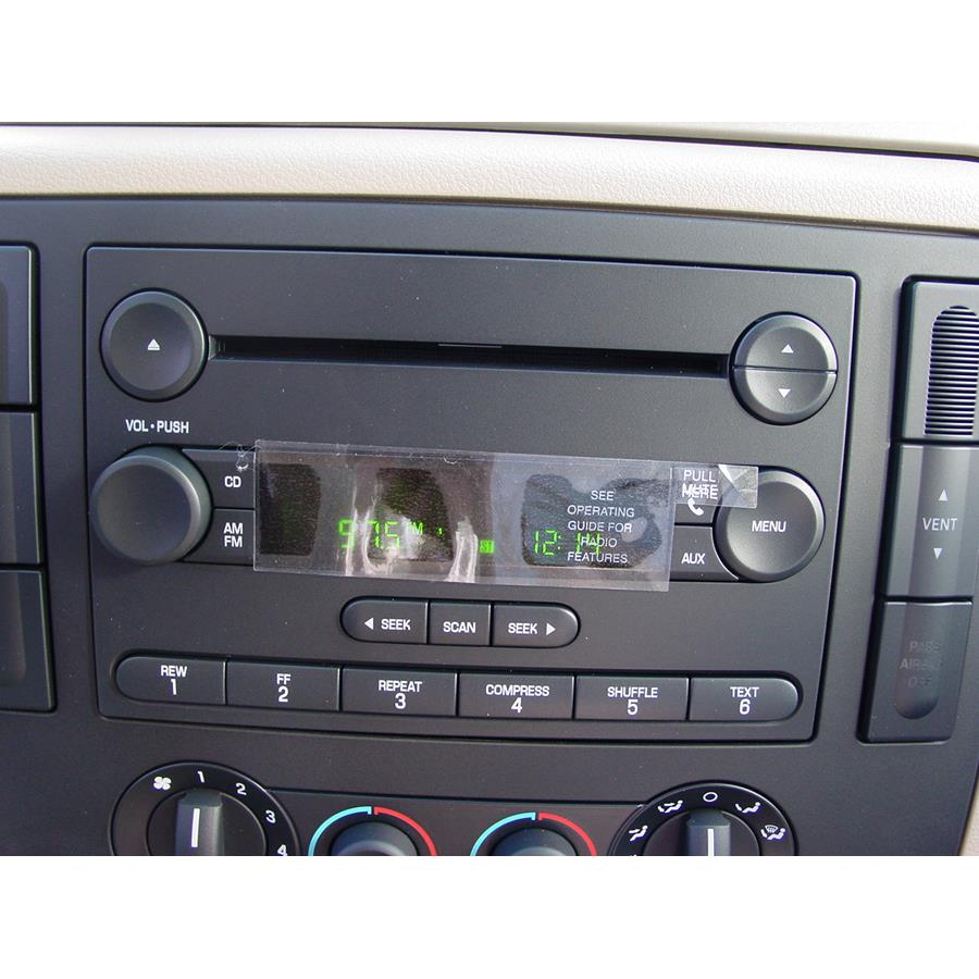2007 Ford Freestar Factory Radio
