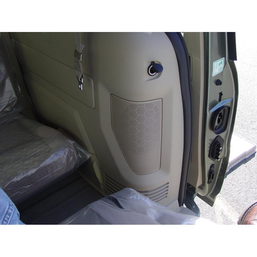 2007 Ford Freestar Rear side panel speaker location