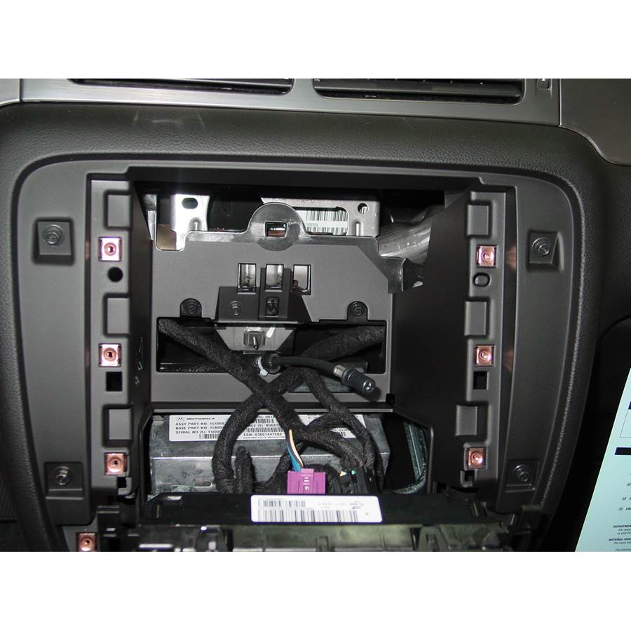 2014 GMC Sierra 2500/3500 Factory radio removed